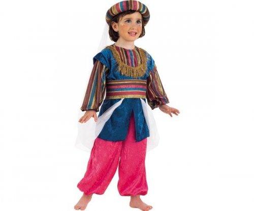 Disfraz de la princesa Jasmine de Aladdin con patrones  