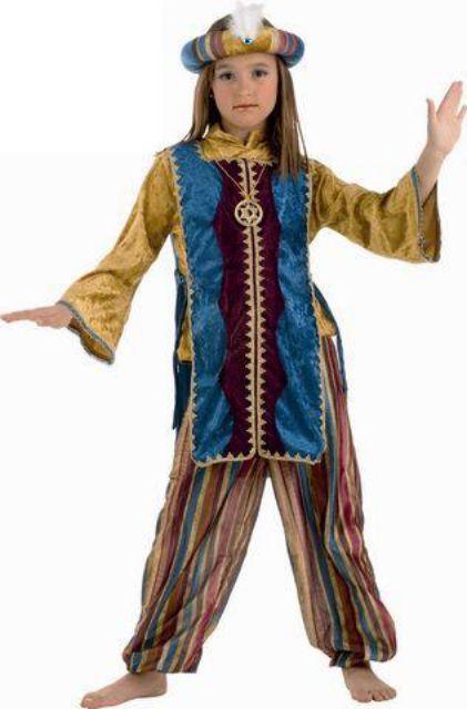 Disfraz  jasmin  turquesa