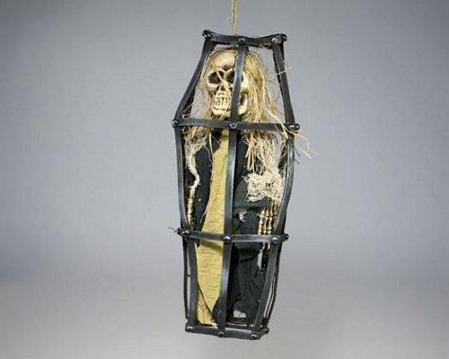 Esqueleto pirata en jaula 40x17x8cm