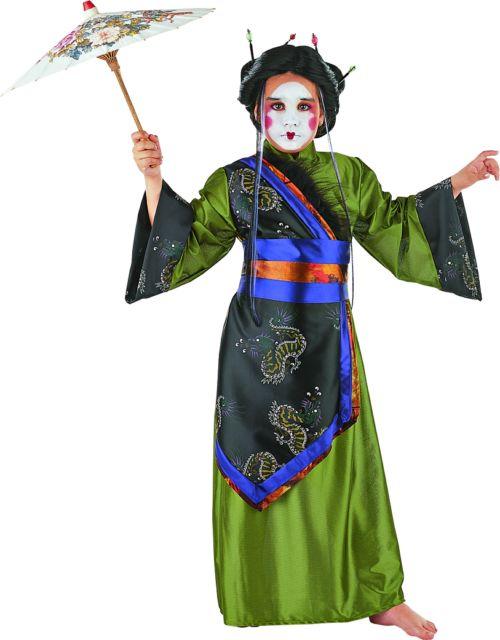Disfraz de geisha Dorada infantil