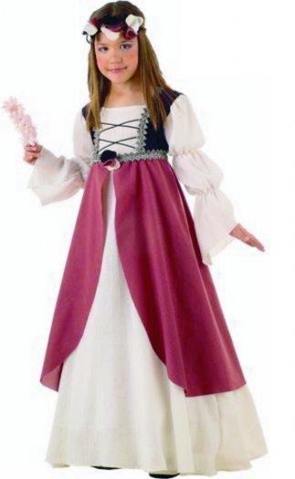 Disfraz de Clarisa Medieval infantil deluxe