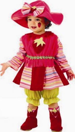 Disfraz de Fresita pololos sin aro bebé deluxe