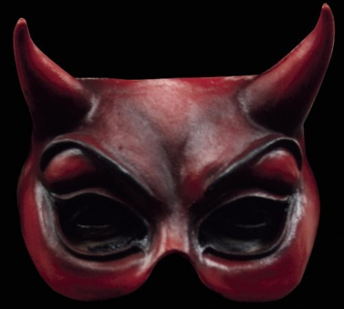 Máscara de diablesa media cara
