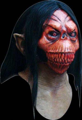 Máscara de esqueleto con pelo sangriento