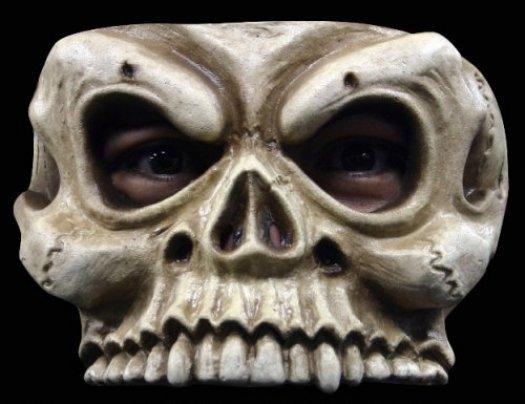 Máscara de esqueleto media cara