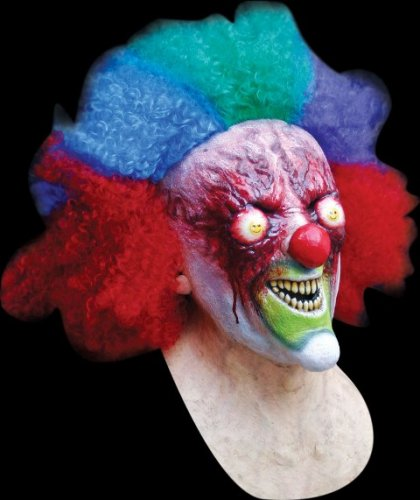Máscara de payaso zombie diabólico