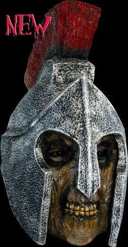 Máscara de soldado romano zombie