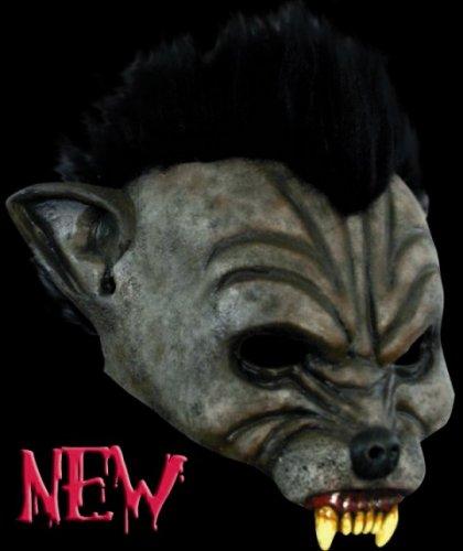 Máscara media cara de hombre lobo