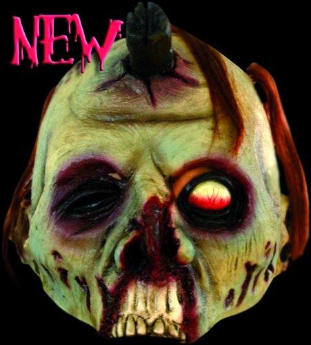 Máscara media cara de zombie verde