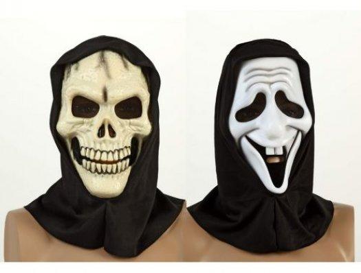 Máscara pvc halloween blanca