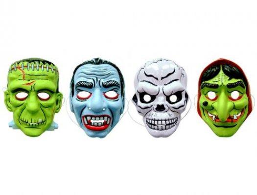 Máscara pvc monstruos terror esqueleto y vampiro