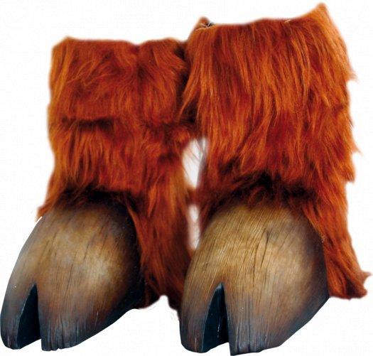 Pezuñas de minotauro o tauren marrón claro