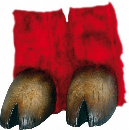 Pezuñas de minotauro o tauren rojo