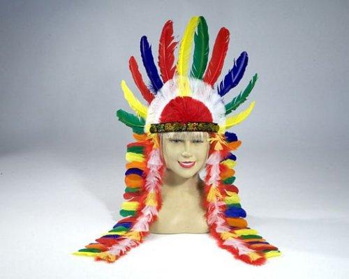 Plumas de jefe indio multicolor