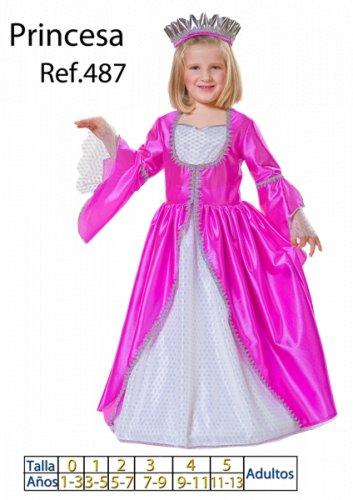 Disfraz de Princesa Fucsia talla 7 a 9 años