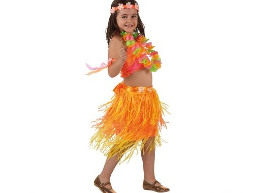 Disfraz de hawaiana niña Talla 4 (10 – 12 años)