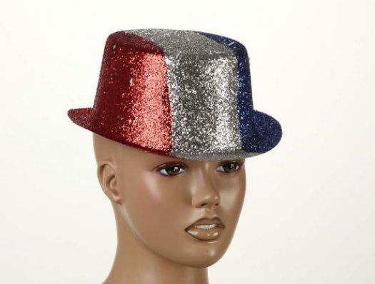 Sombrero destellos tricolor francia