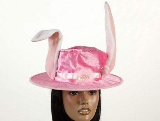 Sombrero rosa orejas de conejo