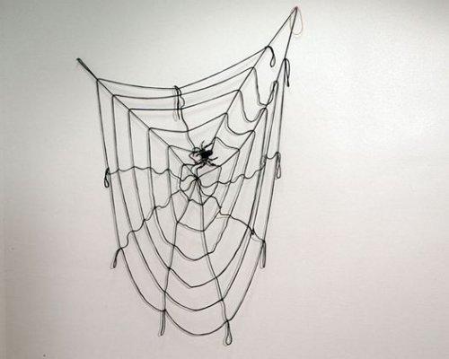 Tela de araña negra araña gigante