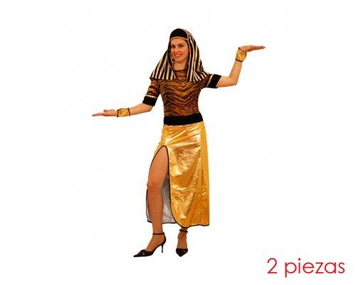 Disfraz de mujer egipcia dorado adulto