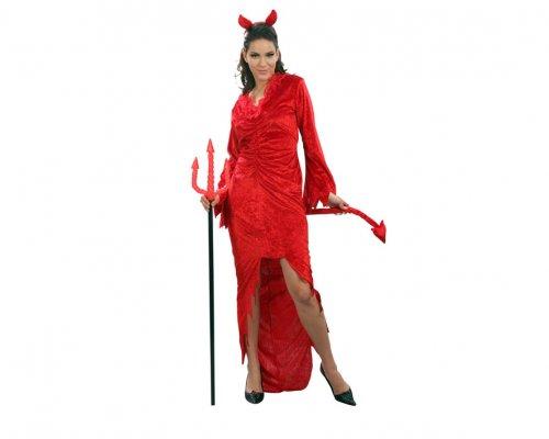 Disfraz mujer demonio adulto c/ cuernos