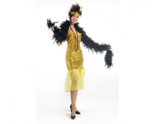 Disfraz chica charleston dorado adulto