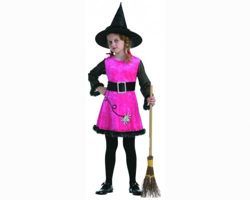 Disfraz de bruja arácnida rosa 10-12 años