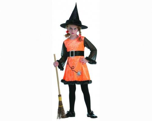 Disfraz de bruja aracnida naranja 4-6 años