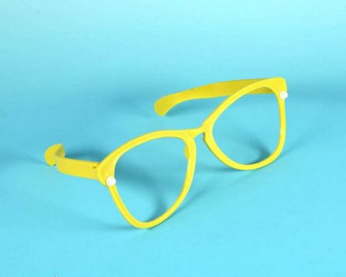 Accesorio carnaval gafas gigantes amarillas o rojas