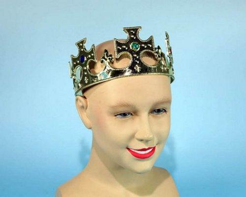 Accesorio corona rey dorada