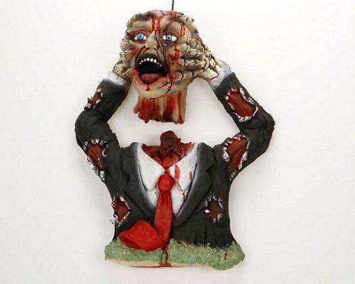 Torso de zombi descabezado 51x41 cm