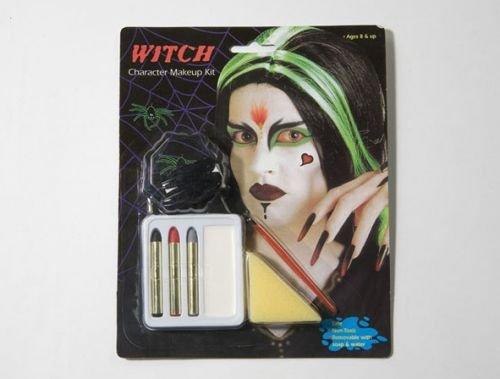 Maquillaje carnaval bruja uñas