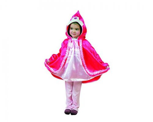 Disfraz de niña caperucita rosa 3-4 años