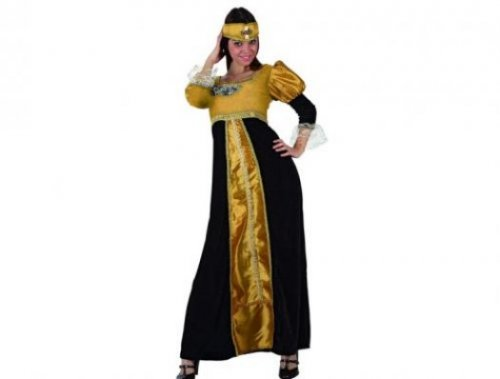 Disfraz de princesa medieval dorado, adulto xxl