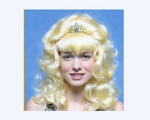 Peluca princesa larga rubia tiara