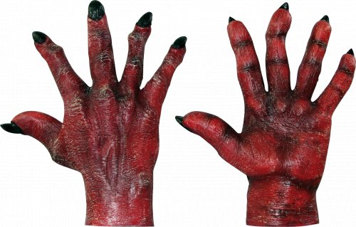 Complemento Evil hands red