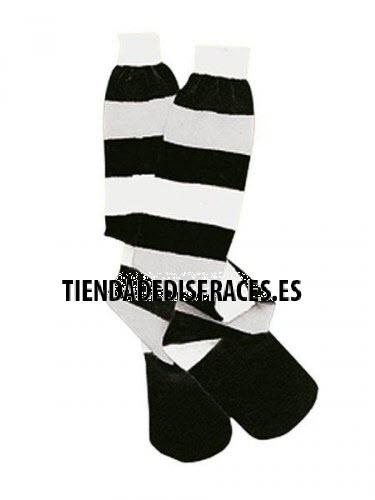 accesorio calcetines blanco negro rayas