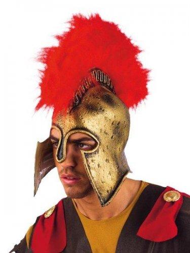 accesorio casco romano oro latex