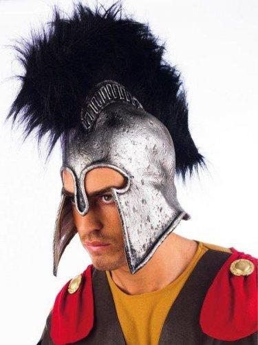 accesorio casco romano plata latex
