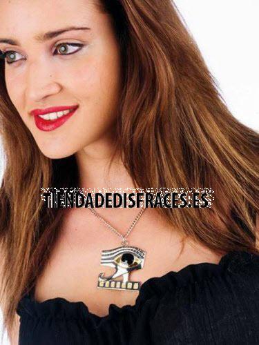 accesorio collar oro ojo egipcio
