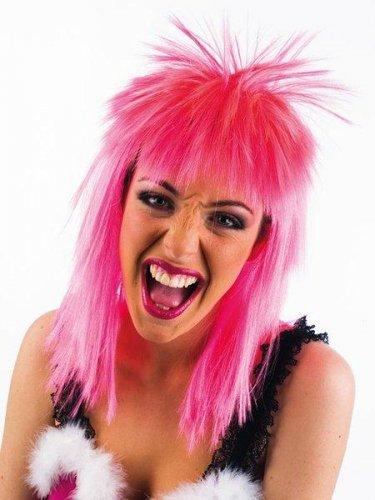 accesorio peluca alaska rosa