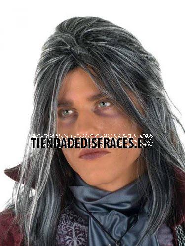 accesorio peluca caballero gotico
