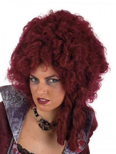 accesorio peluca dama epoca burdeos