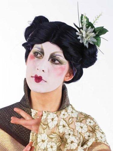 accesorio peluca geisha