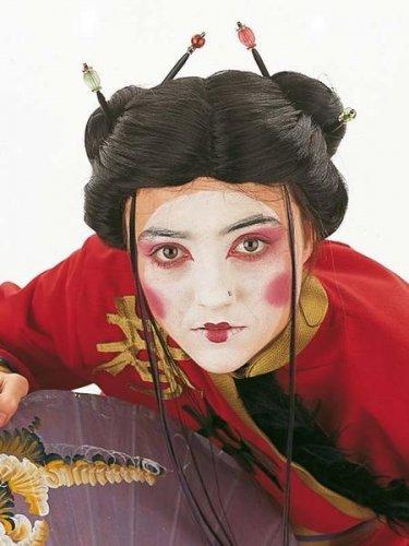 accesorio peluca geisha mechones Talla única