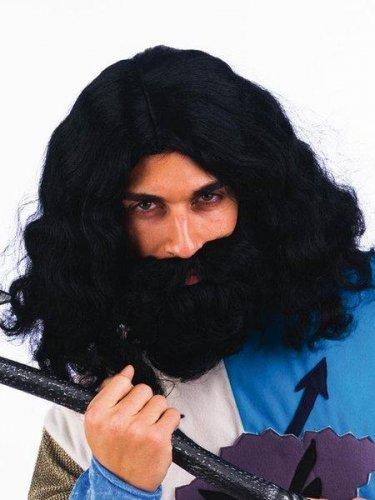 accesorio peluca morena con barba