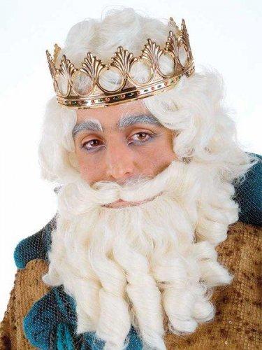 accesorio peluca y barba rey