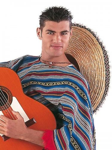 accesorio poncho mexicano Talla única