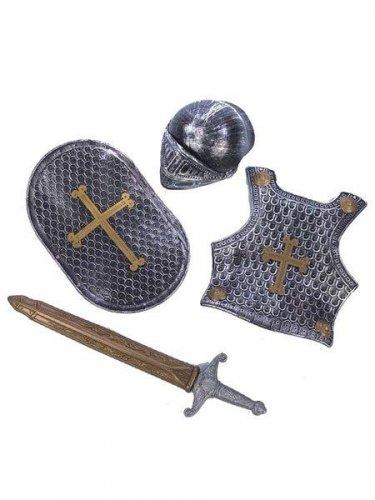 accesorio set guerrero plata