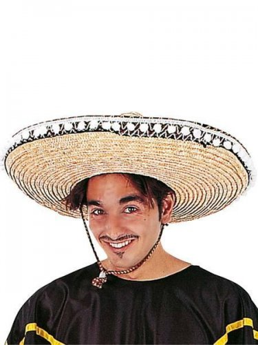accesorio sombrero mexicano c.natural Azul